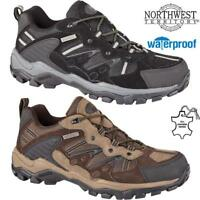Mens NORTHWEST Leather Walking Hiking Waterproof Trainers Trekking Boots Shoes