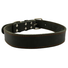Best Genuine Leather Big Dog Collars Durable for Medium Large Dogs Pitbull Boxer