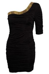RARE TOPSHOP Bugle Bead Trim One Sleeve Dress brand new with tags black uk 14
