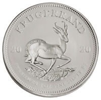 2020 South Africa 1 oz Silver Krugerrand R1 Coin GEM BU SKU60229