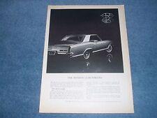 """1963 Buick Riviera Vintage ad The Riviera """" Coachwork """""""