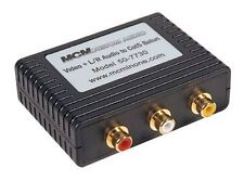 MCM CUSTOM AUDIO 50-7730 VIDEO BALUN, RCA FEMALE RJ45 JACK send composite video