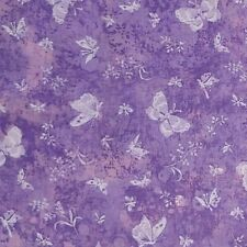 Butterflies Purple Pink 100% Cotton Quilting Fabric 1 1/8 YARDS