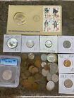 coin+collection+with+graded+coins+and+silver