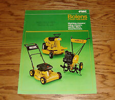Original 1970s Bolens Sales Brochure 70 Mower Mulcher Tiller Snowthrower