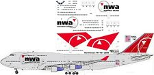 Northwest final Boeing 747-400 decals for Revell 1/144 kit