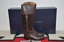 Ralph Lauren Collection Purple Label Sadie Leather & Suede Riding Boots 7.5
