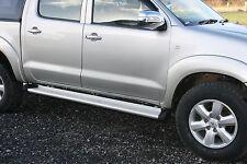 Toyota Hilux Vigo Invincible HL2 HL3 Aluminium Side Step w/ Rubber Cap Complete