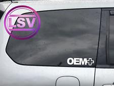 OEM + Sticker Funny VW Dub JDM Euro Stance Window Decal VAG BMW