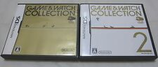 7-14 Days to USA. Club Nintendo DS Game & Watch Collection 1 And 2 Set. Japanese