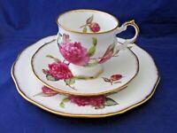 ROYAL CREST TEA CUP, SAUCER AND SANDWICH PLATE - FINE BONE CHINA - ENGLAND
