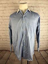 Brooks Brothers Men's Blue White Collar Dress Shirt 16.5 32 $125