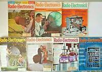 Lot of 7 Radio Electronic Magazines 1962 Issues