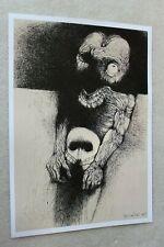 Original Poster Printout of Zdzisław Beksinski drawing on satin paper 6