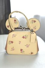 Coach x Disney Minnie Mouse kisslock bag vanilla floral print limited release