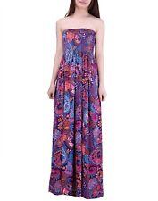 Women's Strapless Maxi Dress Plus Size Tube Top Long Skirt Sundress Cover Up