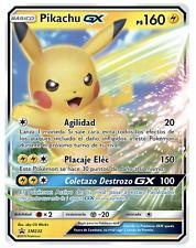 Pokemon - Pikachu Gx- Sm232 - Black Star Promo - Holo Rare - Jumbo size - Nm/M