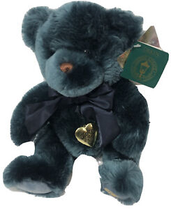 NEW tags Thomas Kinkade Sweetheart Blue Teddy Bear  Dakin 14 Inch Plush + Locket