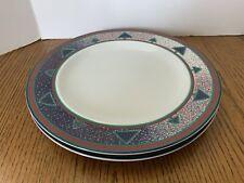 """Dansk WINTERFEST 2  Dinner Plates 11 1/8"""" Porcelain Christmas Holiday Decor"""