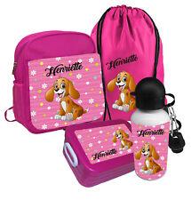 Kindergartenrucksack Hund Wunschname Rucksack Pink Kinderrucksack KinderTasche