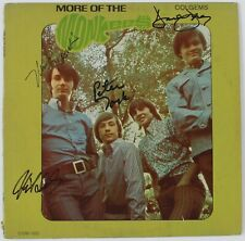 "THE MONKEES Signed Autograph ""More Of.."" Album Vinyl LP x4 Davy Jones, Nesmith +"