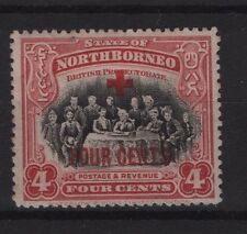 North Borneo SG 238 1918 4c+4c Lightly Mounted Mint