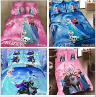 top DISNEY MOVIE FROZEN queen size Cotton Quilt / duvet Cover Bed Sets Elsa Anna