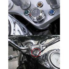 """1* 7/8"""" Motorcycle Bike Chrome Waterproof Black Dial Handlebar Clock Glow Watch"""