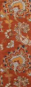 """Floral Traditional Oriental 8 ft Runner Rug Wool Hand-Tufted 2' 7""""x8' 0"""" Carpet"""