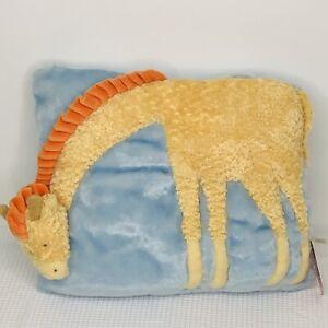 """Russ Cherished Moments Giraffe Pillow Pets Pillow Blue 14"""" Nursery NWT"""