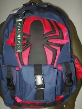Marvel Spider-man Spiderman Buckle Multi Pockets Built Up Tech Backpack Book Bag