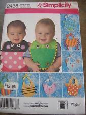 Simplicity 2468 NEW UNCUT 8 Cute BABY BIB Sewing Patterns NEW