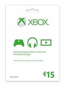 Xbox Live Guthaben 15 Euro Xbox Live Code Email Lieferung