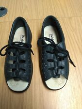 Ladies Casual Lace Up Padders Sandals  Navy UK Size 4, EE Fitting