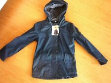 NEU Regenjacke Jacke Mädchen Gr 128 dunkelblau wind-wasserabweisend Kapuze