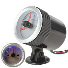 "0~8000RPM Silver 2"" 52mm Auto Car Tachometer Tach Gauge Tester with Holder Cup"
