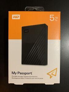 WD MY PASSPORT 5TB. USB 3.2. WESTERN DIGITAL. DISCO DURO. NUEVO. NACEX 24H