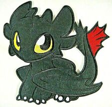 """How to Train Your Dragon """"Toothless The Dragon"""" 7.5"""" Embroidered Patch - New"""