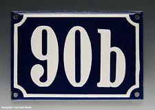 Emaux, E-Mail-numéro de maison 90b en bleu/blanc pour 1960