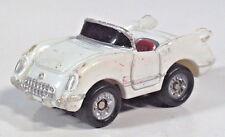 """Micro Machines Chevrolet 1955 55 Corvette Convertible 1.25"""" Scale Model White"""