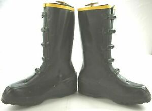 NWT LaCrosse Mens Rubber Duluth 5 Buckle Overshoe Fit Over Supersole Boots 35601