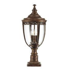 Feiss English Bridle 3lt Large Pedestal British Bronze 3 x 60W E14 220-240v 50hz