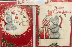 """10 Lovely Me To You Tatty Teddy ~ 2 Designs Christmas Cards 3.5"""" X 4.75"""""""