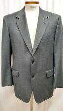 Canali Gray Wool EU 54  US 44  Blazer Sport Coat Jacket Glen Plaid Dual Vents