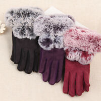Women Winter Gloves Warm Touch Screen Riding Driving Soft Mittens Comfy