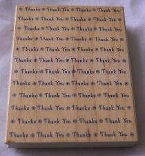 Stamp Thank You Thanks Wood Mount Rubber NEW Hero Arts Retired Never Used S1241