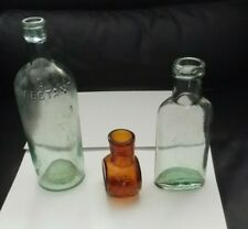 3xVintage Bottles Sanitas, Bovril, other