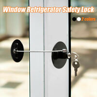 White Window Restrictor Safety Locking UPVC Child Baby Security Wire Cable R4