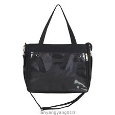 Japanese Transparent Clear Color Shoulder Bag Handbag Itabag Canvas Black White