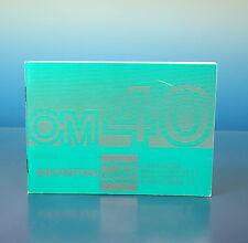 Olympus OM40 Bedienungsanleitung instructions DE/EN/ES/FR - 204418